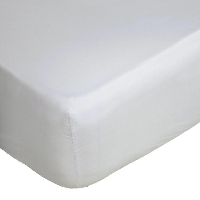 Belledorm Egyptian Cotton White Fitted Sheet, Single