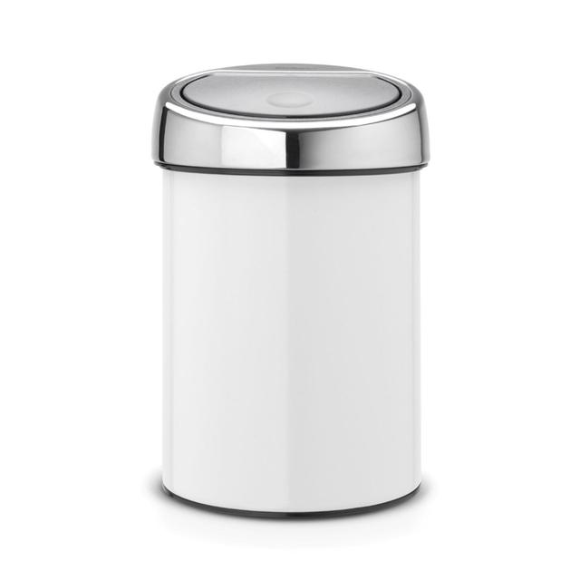 brabantia 3l touch bin white from ocado. Black Bedroom Furniture Sets. Home Design Ideas