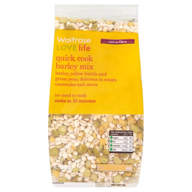 Cook Something Easy And Fast: Waitrose Love Life Quick Cook Barley Mix 250g From Ocado