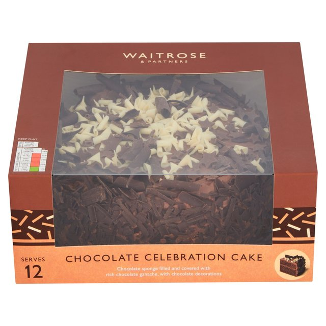 Phenomenal Waitrose Chocolate Cake 12 Servings Ocado Funny Birthday Cards Online Inifofree Goldxyz
