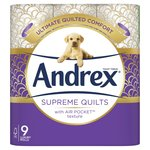 Andrex Supreme Quilts Cushioned Softness Toilet Tissue