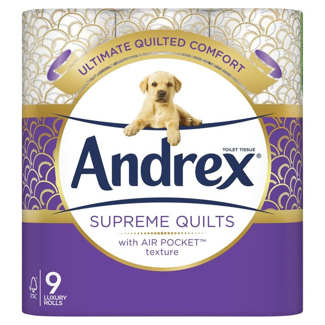 Ocado Andrex Quilts Cushioned Softness Toilet Tissue 9