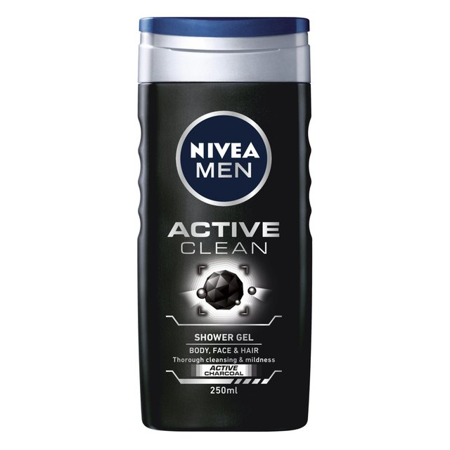 Nivea Men Active Clean Shower Gel 250ml From Ocado