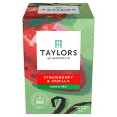 Taylors & Kew Green Tea with Strawberry & Vanilla Teabags