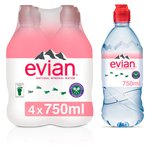 Evian Still Mineral Water Sports Cap