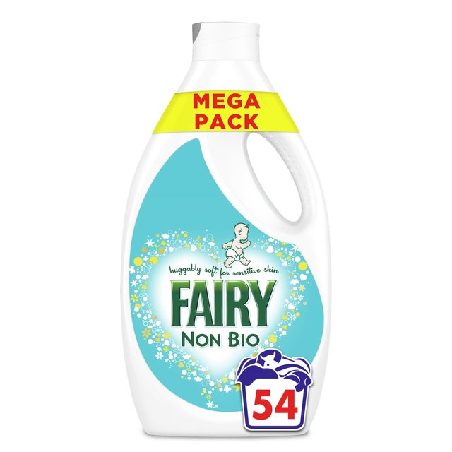 fairy non bio washing liquid for sensitive skin 54 washes ocado fairy