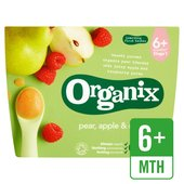 Organix Organic Fruit Puree - Pear, Apple & Raspberry