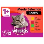 Whiskas 1+ Cat Pouches Meaty Selection in Gravy