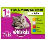 Whiskas Fish and Meat in Jelly Adult 1+ Wet Cat Food Pouches