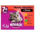 Whiskas 7+ Cat Food Pouches Meaty Selection in Gravy