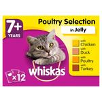 Whiskas 7+ Cat Food Pouches Poultry Jelly