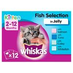 Whiskas Kitten Food Pouches Fish Selection in Jelly
