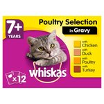 Whiskas 7+ Cat Pouches Poultry Selection in Gravy