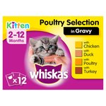 Whiskas Kitten Food Pouches Poultry Selection in Gravy