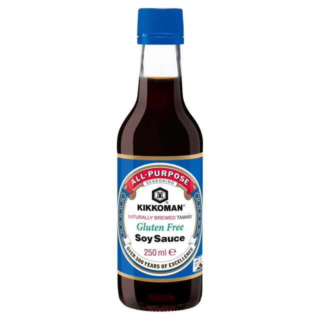 Kikkoman tamari gluten free soy sauce 250ml from ocado for Is fish sauce gluten free
