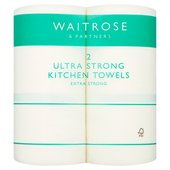 Ultra Strong Kitchen Towel White Waitrose