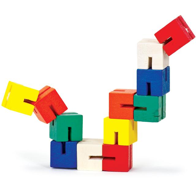 Twist and Lock Wooden Blocks, 3yrs+