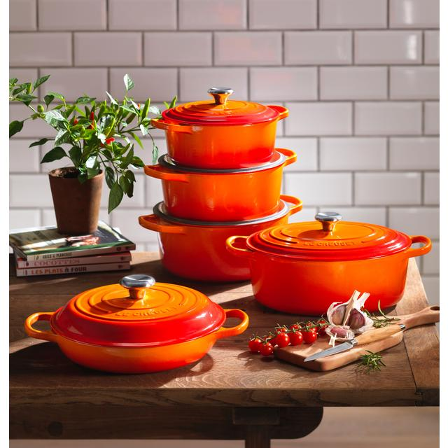 Le Creuset Cast Iron Oval Casserole, Almond 27cm from Ocado