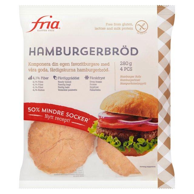 Fria Gluten Free Hamburger Rolls 4 x 70g from Ocado