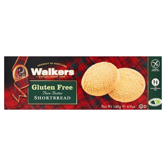 Walkers Gluten Free Shortbread 140g from Ocado