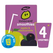 Innocent Kids Apples & Blackcurrants Smoothies