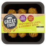 Great Food Spicy Green Lentil & Coconut Bites