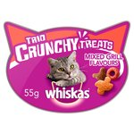 Whiskas Trio Crunchy Cat Treats Mixed Grill Flavours