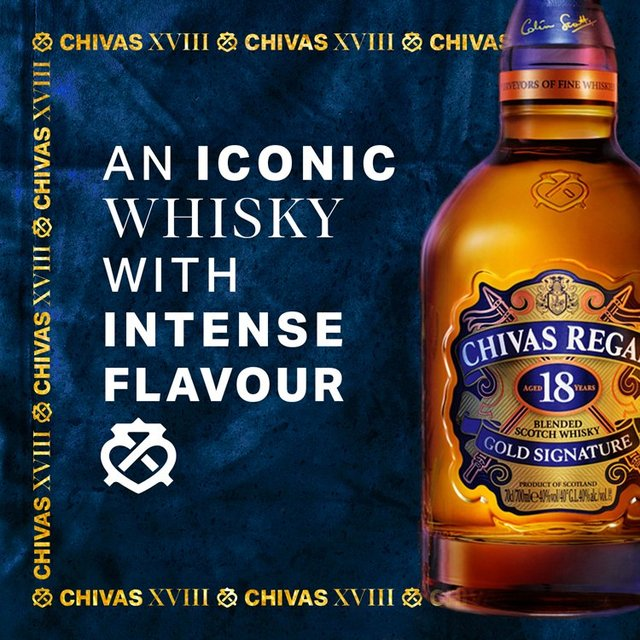 Chivas regal 18 year old premium blended whisky 70cl from ocado - Chivas regal 18 1 liter price ...