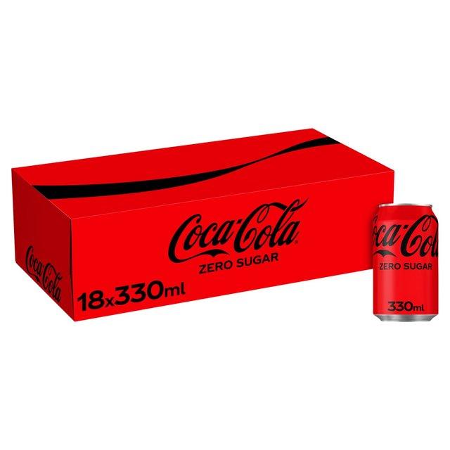 coca cola zero sugar 18 x 330ml from ocado. Black Bedroom Furniture Sets. Home Design Ideas
