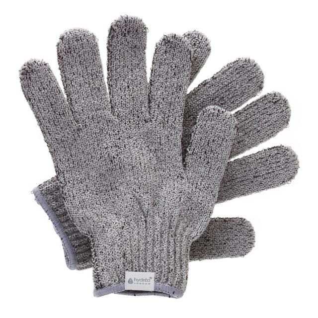 Hydrea London Bamboo Carbonised Exfoliating Shower Gloves