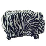 Hydrea London Eco Friendly PEVA Shower Cap, Zebra Print