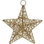 Gisela Graham Gold Wire Mesh Star