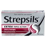 Strepsils Cherry Extra Triple Action Lozenges