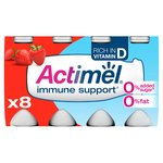 Actimel 0.1% Strawberry Drinking Yogurts