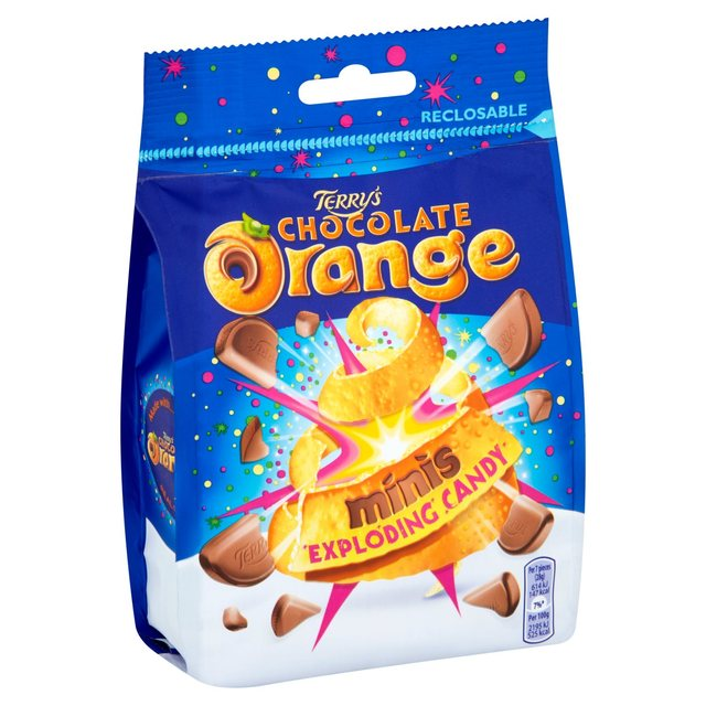 Image result for chocolate orange popping candy and toffee mini