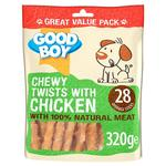 Good Boy Chewy Chicken Twisters Dog Treats