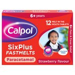 Calpol Sugar Free Paracetamol Strawberry Fastmelts, 6+yrs