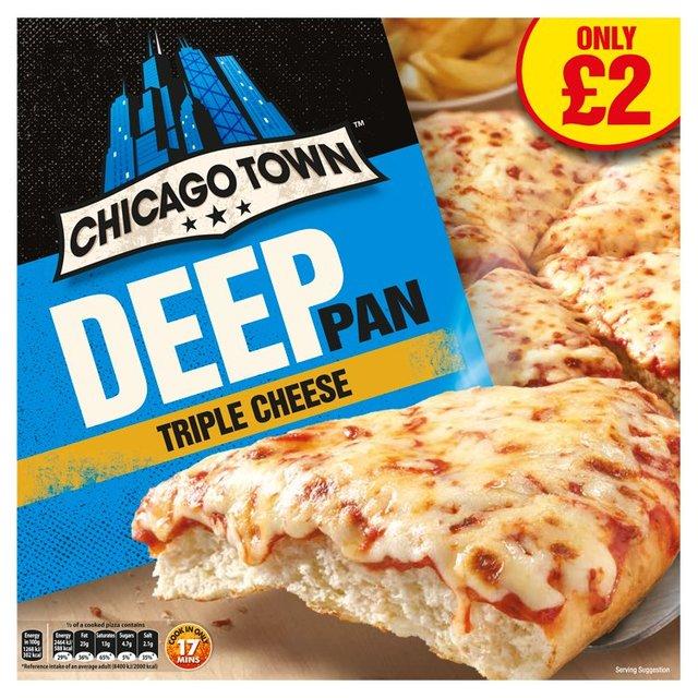 Chicago Town Deep Pan Triple Cheese Pizza Ocado