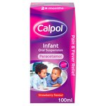 Calpol Infant Paracetamol Strawberry Liquid, 2+mths