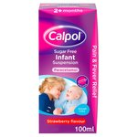 Calpol Paracetamol Infant Sugar Free Strawberry Liquid, 2+mths