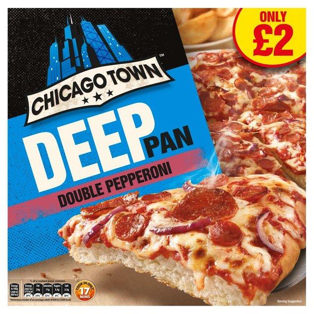 Chicago Town Deep Pan Double Pepperoni Pizza Ocado