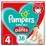 Pampers Baby-Dry Pants Size 4, 38 Nappy Pants