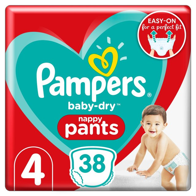 Pampers Baby Dry Pants Size 4 Essential Pack