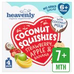 Heavenly Coconut Squishies Strawberry, Apple & Banana