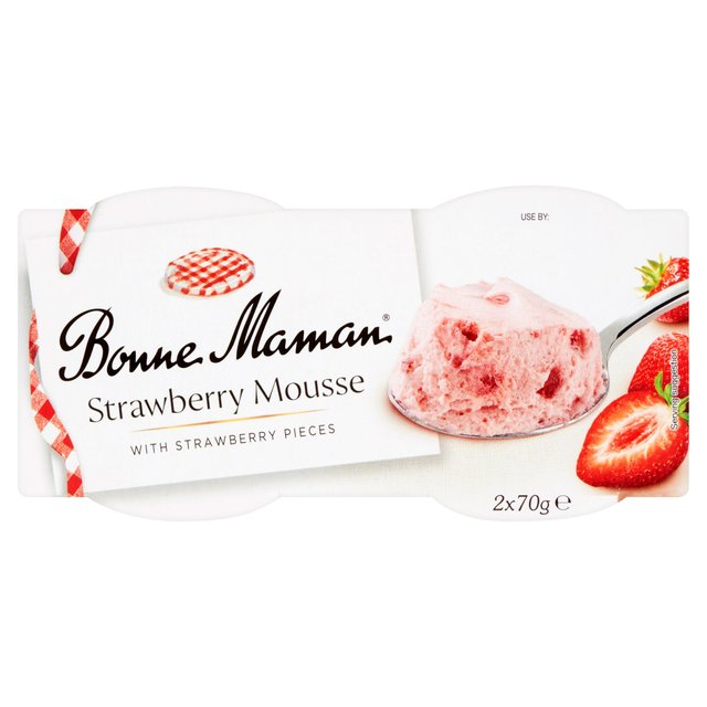bonne maman strawberry mousse 2 x 70g from ocado. Black Bedroom Furniture Sets. Home Design Ideas
