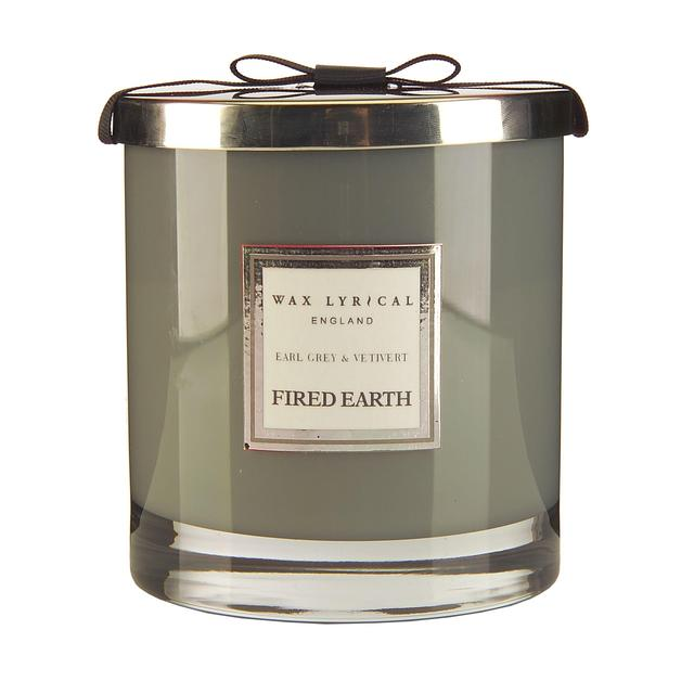 Wax Lyrical Fired Earth Earl Grey & Vetivert Scented ...