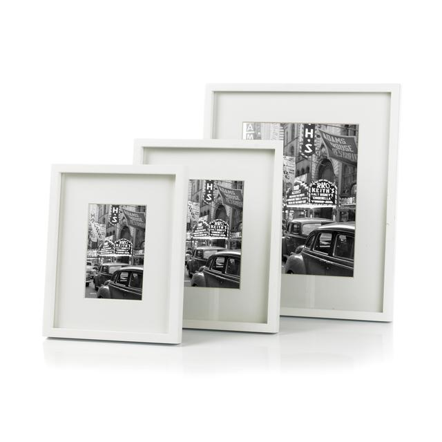 Sixtrees Hanover Photo Frame 4x6, White from Ocado