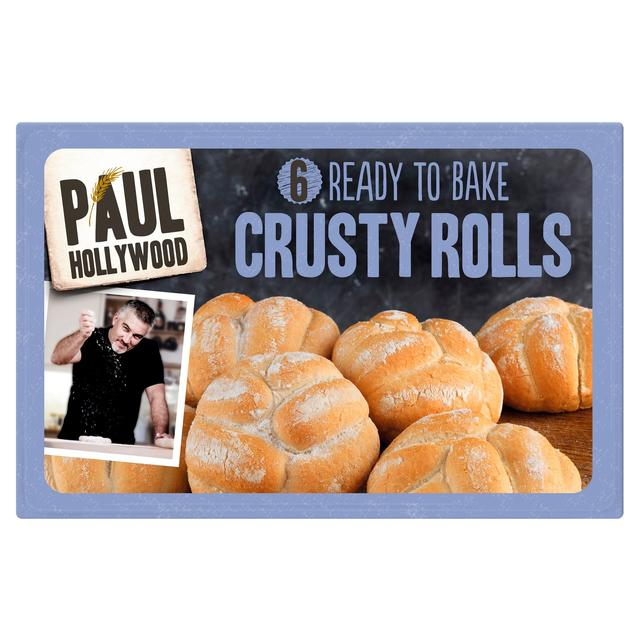 Paul Hollywood 6 Part Baked Crusty White Rolls with Rye ...