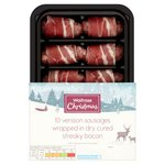 Waitrose Venison & Pork Cocktail Sausages Wrapped in Bacon