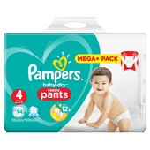 Pampers Baby Dry Pants Size 4 Mega Box Plus
